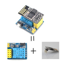Buy online ESP8266 ESP-01 ESP-01S DHT11 Temperature Humidity Sensor for Arduino Wifi Wireless Module Smart Home IOT DIY Project Kit