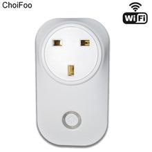 Uk/EU/US Plug Беспроводной Wi-Fi умная розетка домой на выходе Пульты дистанционного управления Мощность с Amazon Alexa сроки переключатель смартфон через приложение
