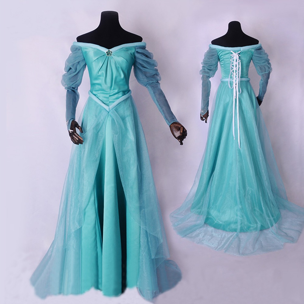 2017 Mermaid cosplay costume Adult princess Aladdin Jasmine dress ...