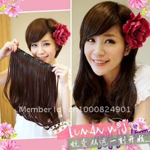 Free shipping five clip in hair extension girls synthetic clips free shipping five clip in hair extension girls synthetic clips hair 40cm for full pmusecretfo Image collections