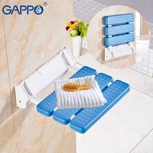 GAPPO Wall Mounted Shower Seat shower folding seat for elderly toilet bath stool bathroom bench Cadeira for seniors and elders
