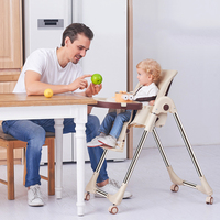 Multifunctional Baby Feeding Chair Portable Infant Dining Table Easy Folding Kids Table Chairs Adjustable Highchair Booster Seat