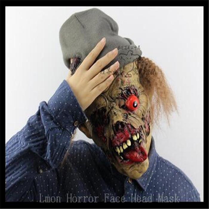Pulsuz çatdırılma Party Cosplay Zombie maskası lateks qanlı - Şənlik aksesuarları - Fotoqrafiya 3