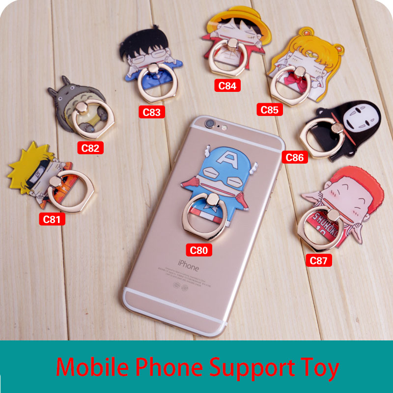 Cute Finger ring Mobile Phone Holder Cartoon Universal phone Ring Bracket For iPhone 6/7 Samsung Galaxy S8 S7 S6 all Smart phone