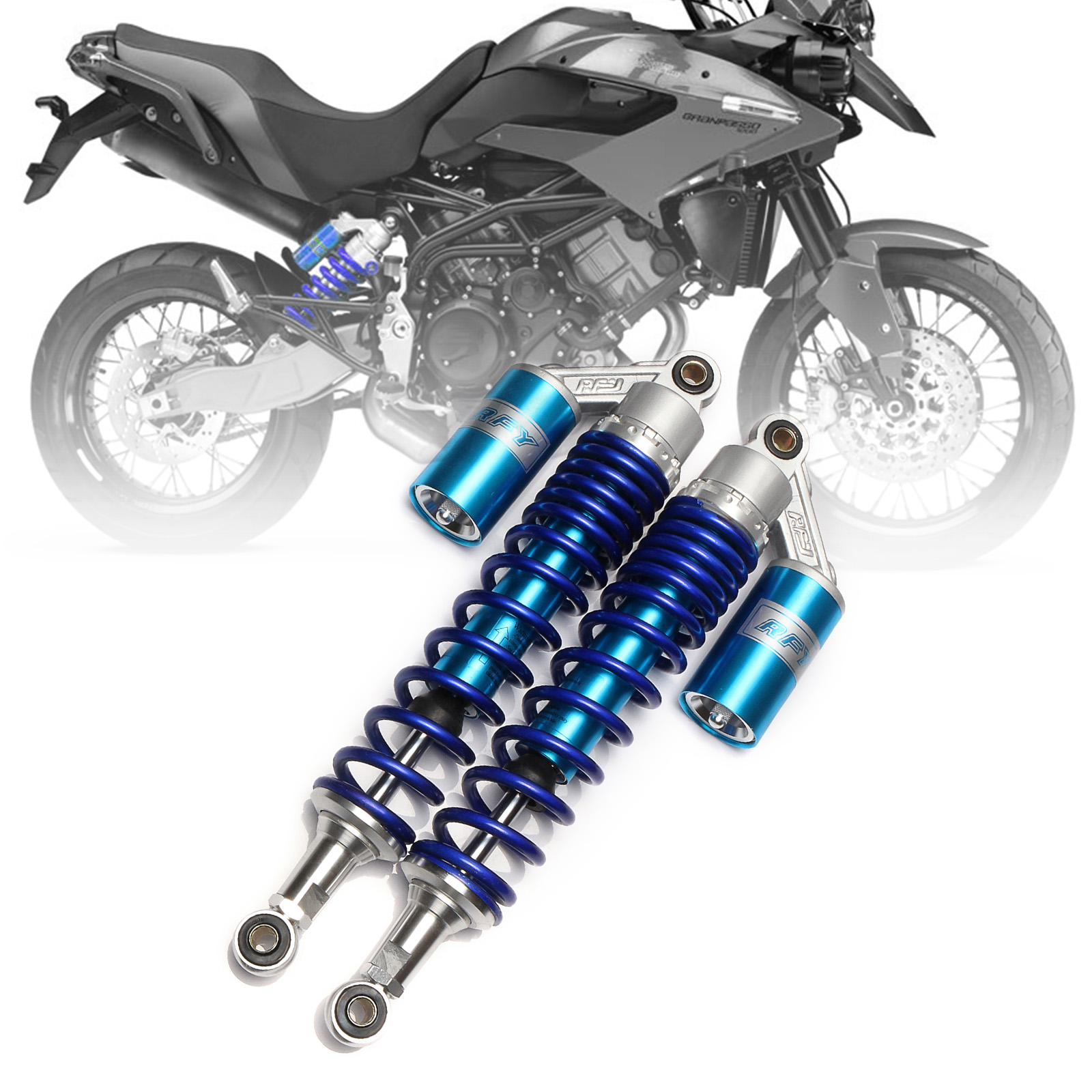 Universal 15 3/4 400mm Motorcycle Air Shock Absorber Rear Suspension For Yamaha Motor Scooter ATV Quad Blue