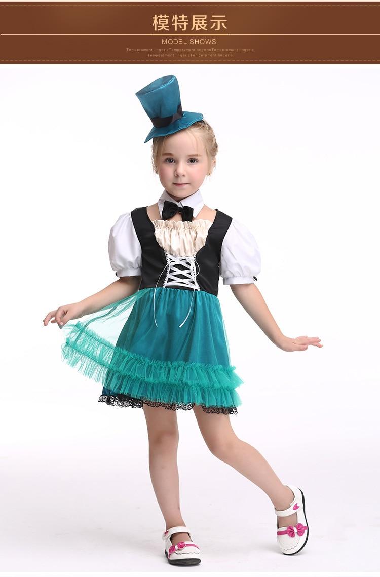 Halloween Maid Costumes kid child Alice in Wonderland ...