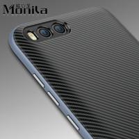 Monila 2 En 1 En Silicone Souple Synthétique Fiber De Cas de Téléphone portable pour Xiaomi 6 Mi 6 Mi6 Dur En Fiber De Carbone En Plastique de Couverture Arrière Cas