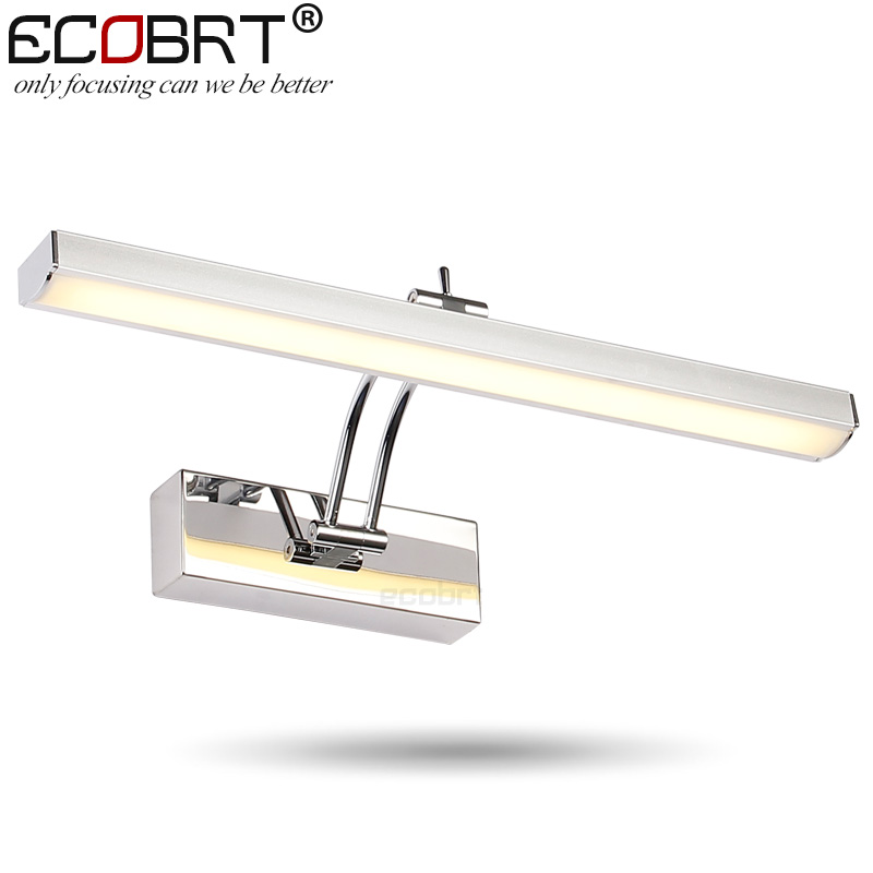 ECOBRT 7W LED Mirror Wall Lamps 40cm long Modern Furniture LED Picture Lights Rotated Arm for Home Bathroom Wall Light ecobrt 80cm long modern bathroom wall lights indoor 16w led mirror lamps over mirror 110v 220v