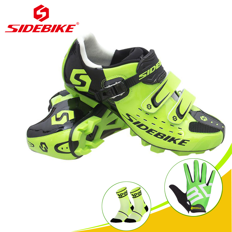 SIDEBIKE 2019 Cycling shoes sapatilha ciclismo MTB Women men Mountain bike shoes Self-locking Breathable Green Spd SneakersSIDEBIKE 2019 Cycling shoes sapatilha ciclismo MTB Women men Mountain bike shoes Self-locking Breathable Green Spd Sneakers