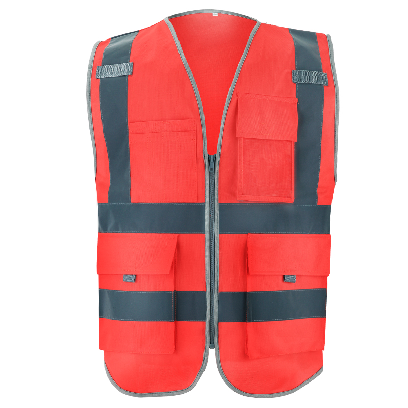SFvest High Visibility Vest Reflective With Pockets