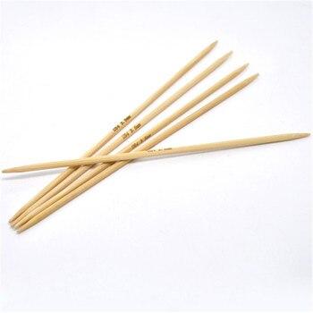 DoreenBeads 20cm bambú cosido a mano DP aguja de tejer ganchillo gancho accesorios para manualidades (tamaño de EE. UU. 4/3. 5mm) 5 unids/set