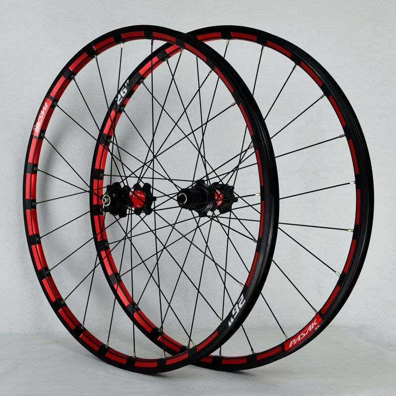 MTB Mountain Bike Wheelset CNC 26/27.5inch Wheels Pull Straight Sealed Bearing Disc Brake Bicycle Wheel Set 7/8/9/10/11 Speed mtb magnesium alloy wheels 26 inches bicycle wheel disc brake mountain bike bearing wheelset