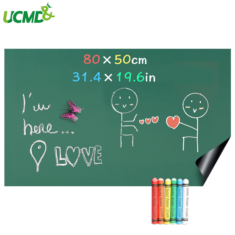 80x50cm Magnetic Whiteboard Vinyl Chalkboard Wall Stickers Removable Blackboard Greenboard Drawing Writing Education Board