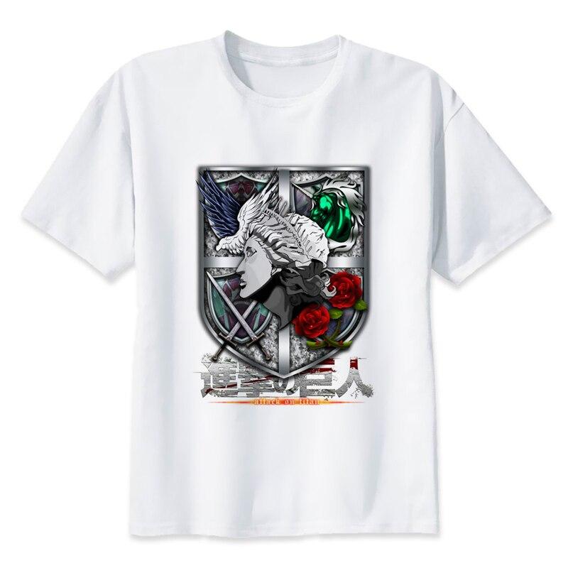 Eren Jaeger attack on titan  t-shirt men cartoon 2017 cool funny white print T-shirt men new fashion t shirt short sleeve MR90