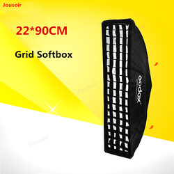 Godox 22*90CM Long flash Softbox with grid Bowens Mount Studio Softbox Foldable and Portable easy to install CD50 T11
