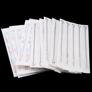 Image 5 - 50 agulhas esterilizadas descartáveis sortidas da tatuagem dos pces médicas para o shader 3/5/7/9/11/14/15/18rl do forro da arma das máquinas da tatuagem