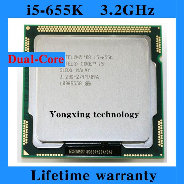 ФОТО Lifetime warranty Core i5 655K 3.2GHz 4M SLBXL Dual Core Four threads desktop processors Computer CPU Socket LGA 1156 pin
