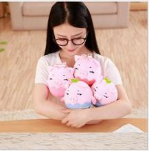 WYZHY New Year Gift Pig Mascot Warm Hands Doll Plush Toy Pillow Bed Decoration 20cm