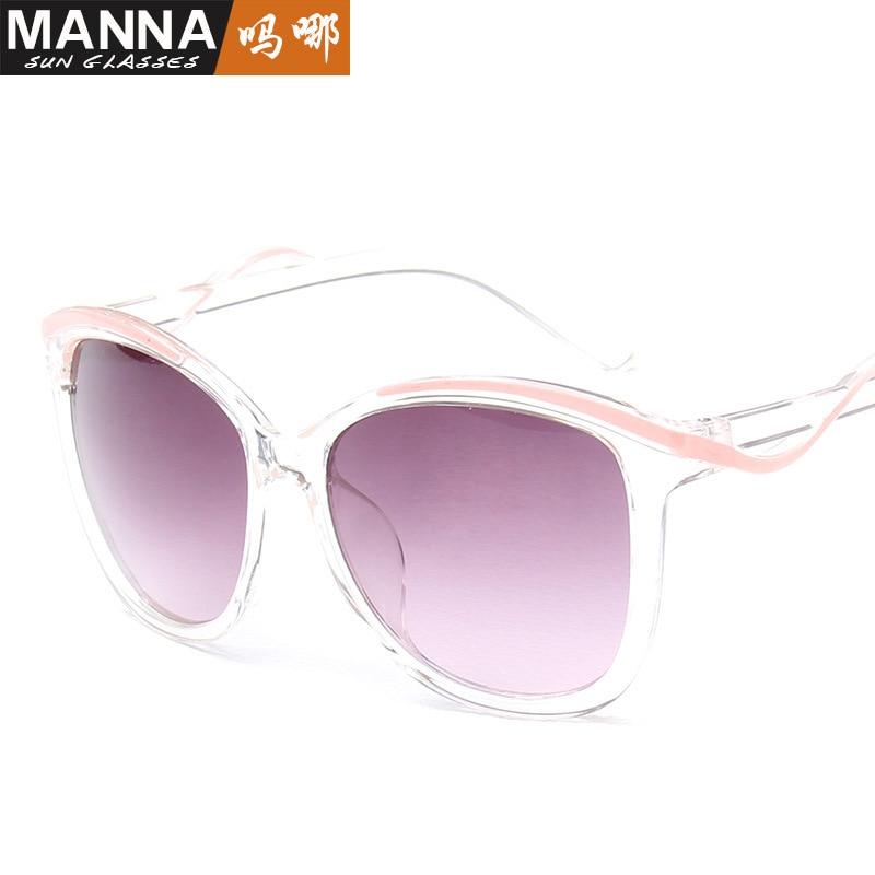 2018 Новый дроссель чили Солнцезащитные Очки дамы моды прозрачный открытый вождения очки 5095