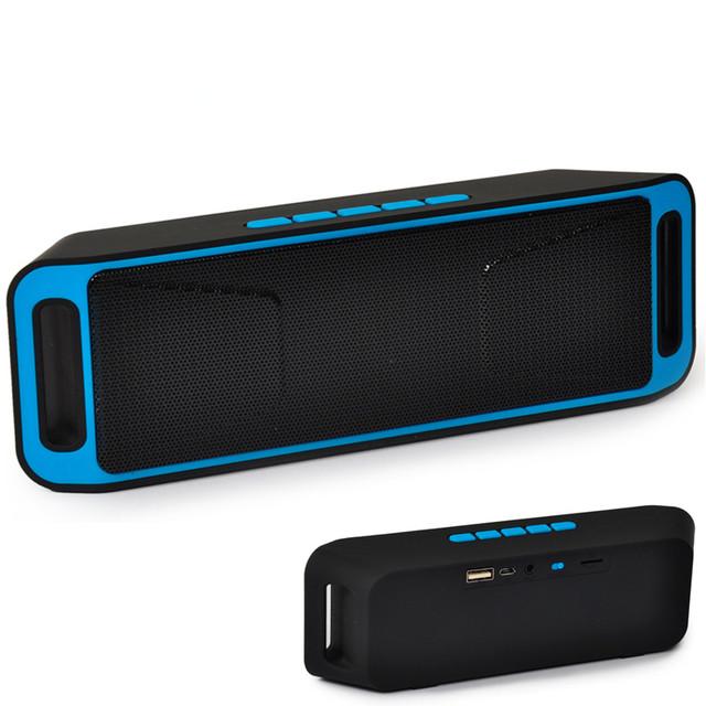 Sc208 inalámbrica bluetooth altavoz, Caixa de Som columna de Altavoces Estéreo Subwoofer USB TF FM Radio Micrófono Incorporado de Doble Caja de Sonido de Bajo