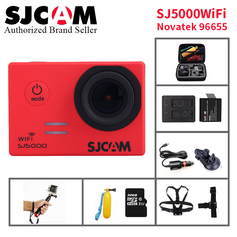 100% SJCAM SJ5000 WIFI Outdoor Action Camera Video Extreme Sports helmet cam Diving 30M Waterproof Camcorder 14MP 170 Wide Angle