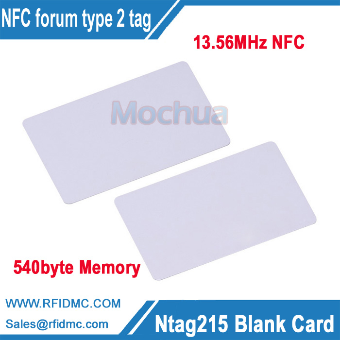 Blank NFC NTAG215 Cards Compatible with TagMo Android PVC Card SHIPS FROM NC