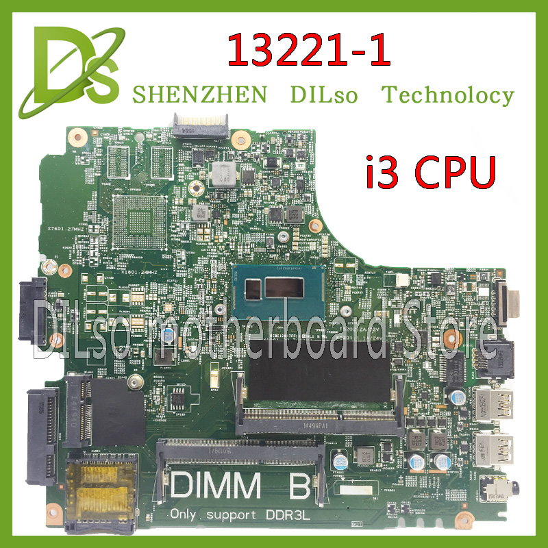 KEFU 13221-1 3440 motherboard for dell 3440 laptop motherboard DL340-HSW MB13221-1 I3 GM DDR3L original tested motherboard летняя шина michelin pilot primacy 3 245 45 r19 98y