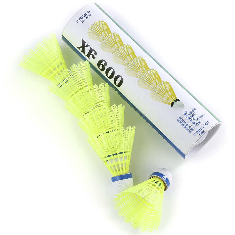 Shuttlecock 6pcs Gym Exercise Training Nylon Badminton Ball High Quality Badminton Shuttlecock With A Box Sports Accessories