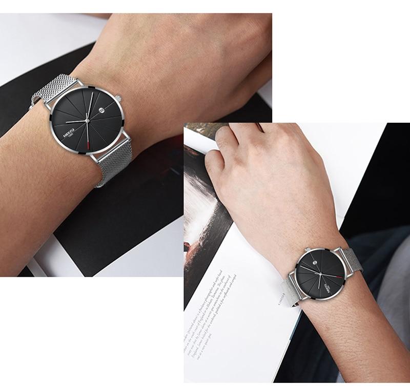 NIBOSI Mens Watch Top Ultra Thin Blue Minimalist Men Watches Stainless Steel Man Wrist Watches reloj hombre 2019 (15)