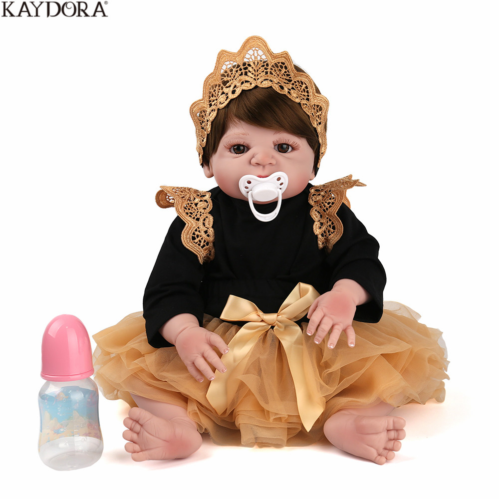 KAYDORA bébé Reborn 55 cm réaliste Reborn Bebes De Silicone réaliste bébé Reborn Silicone Inteiro Menina bébé poupée pour les filles