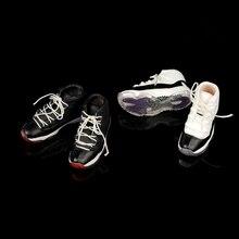 1/6 FG064 мужской черный, белый цвет полые шнуровкой для отдыха баскетбольные кеды Modles 12 «фигурки героев аксессуары кукол