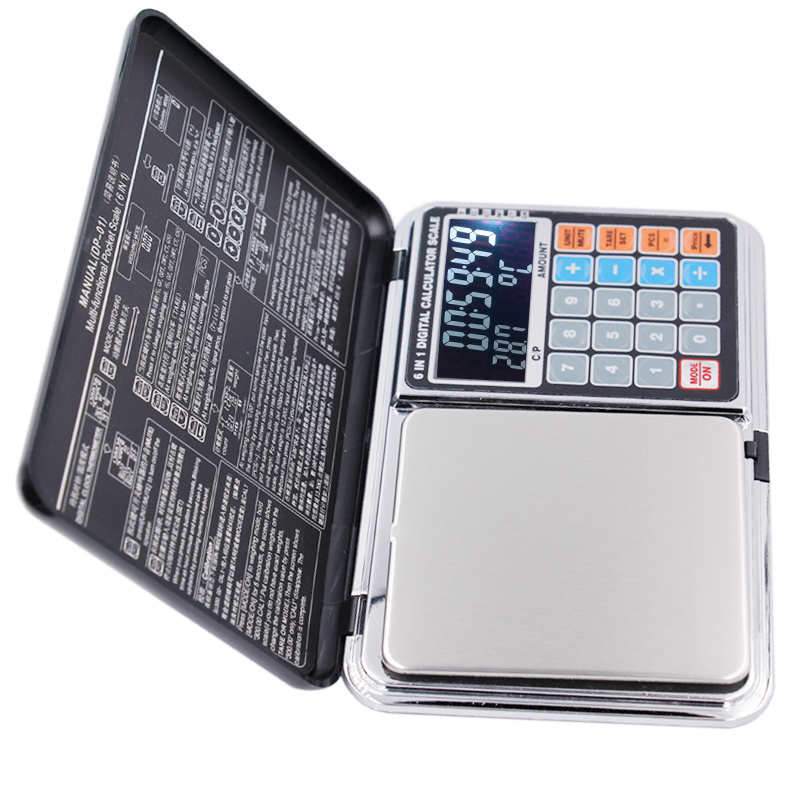 2016 newest Backlight LCD screen Counting pricing multifunction 0.01G/500g jewelry weight balance scales calculators 20% pricing