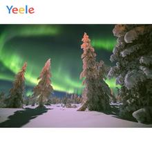 все цены на Yeele Winter Snow Pine Forest Aurora Decor Painting Photography Backdrops Personalized Photographic Backgrounds For Photo Studio онлайн