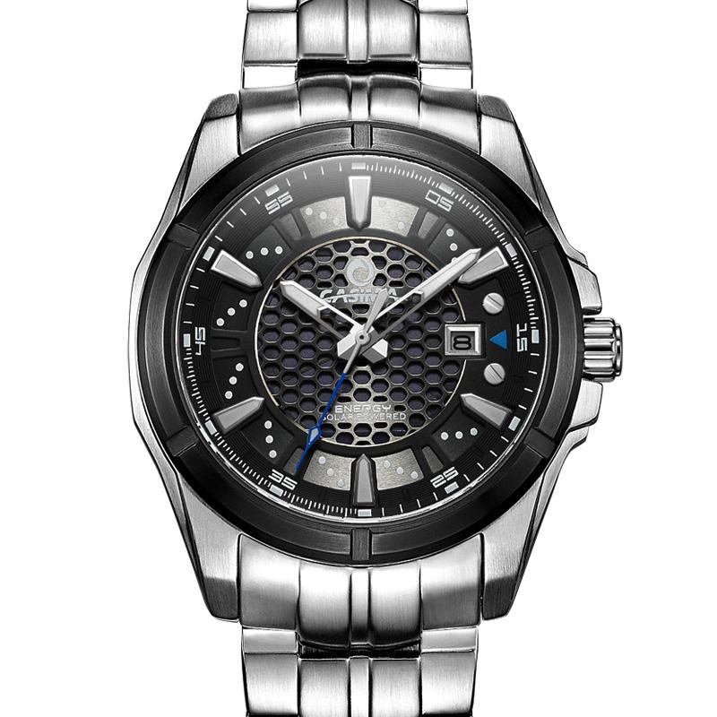 Prix pour Hommes montres hommes en acier inoxydable horloge mode casual innovante percé étanche 100 m montres casima #9905