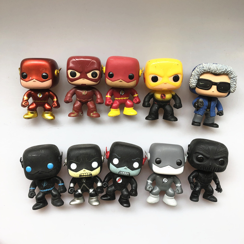 Original Funko pop Secondhand DC Comics: Grey Black Flash, Reverse Flash Zoom Vinyl Action Figure Collectible Model Loose Toy image