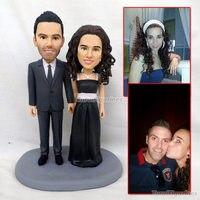Пользовательские глины sculpey скульптуры истинное лицо человека куклы Полимерная глина рисунок Свадебный торт Топпер Декор подарок для влюб