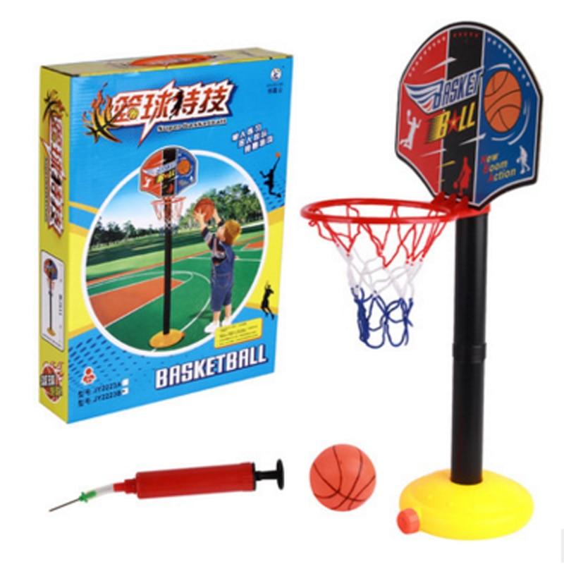 1 sæt gratis forsendelse Børn Sport Bærbar Basketball Legetøj Sæt Løftbare Børn Basketstativ Mini Basketball HoopBaby Ball sport