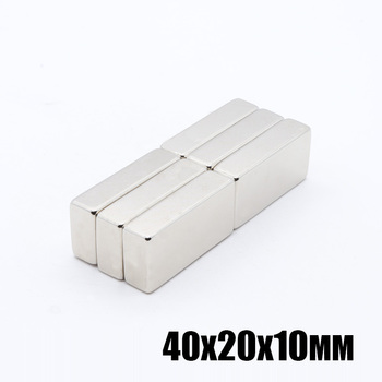 2pcs 40x20x10 mm N35 Strong Square NdFeB Rare Earth Magnet 40*20*10 mm Neodymium Magnets 40mm x 20mm x 10mm Magnet image