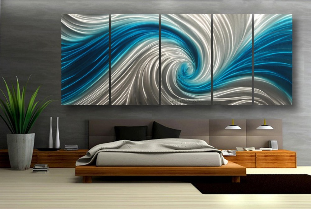 Metallic Paint Wall Hanging Mental Art Sculpture Blue Whirlpool Waterproof  3D Effect Home Decoration 00358e In Menu0027s Costumes From Novelty U0026 Special  Use On ...
