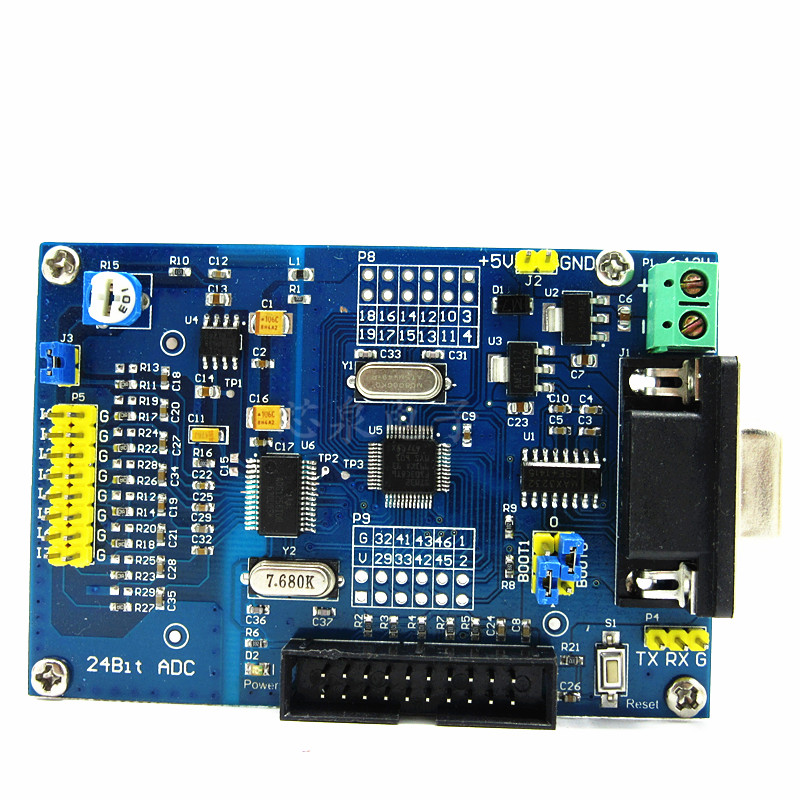 Module d'acquisition de haute précision ADS1256 + STM32F103C8T6 carte d'apprentissage de développement de contrôle industriel 24 bits ADC alimentation