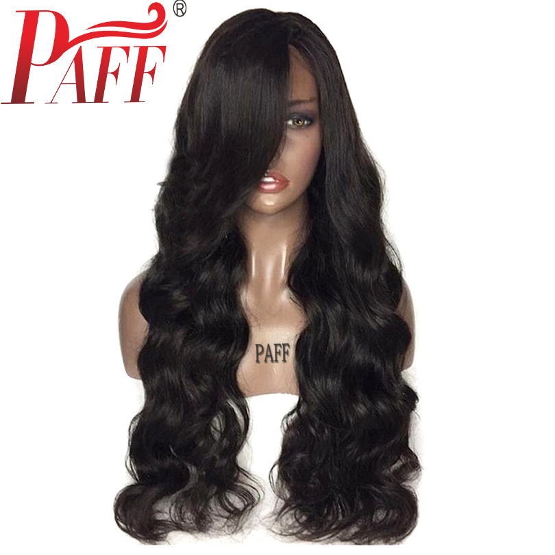 PAFF бразильский человеческих волос 180% плотность объемная волна Синтетические волосы на кружеве человеческих волос парики с ребенком волос ...