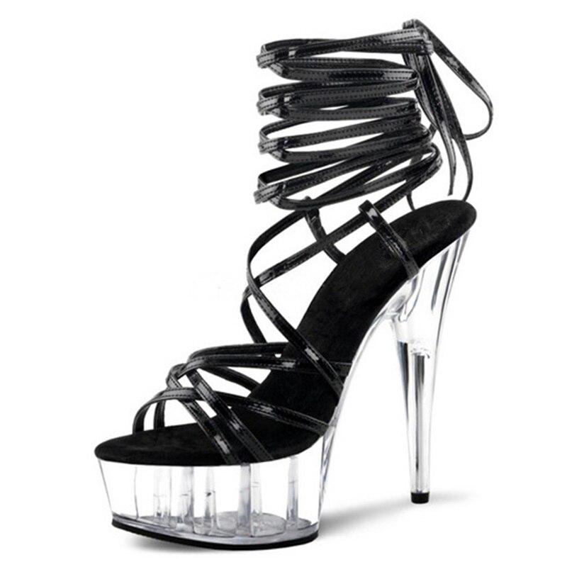 as Picture Talons Gelée Cm Sandales Hauts Étroite As 15 Picture Chaussures Stripper Bande Plate Talon Cristal De Danse Pôle forme Femmes 10 Taille Nuit Des Mode qgrgFS