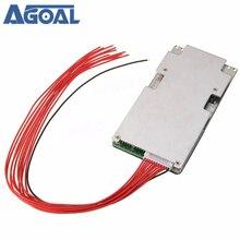Защитная плата BMS PCB для литий ионного аккумулятора 37 в 42 в 10S 45 А, система защиты от перезарядки и разряда с балансом полосы