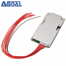 Placa de protección de batería de ion de litio, 37V, 42V, 10S, 45A, BMS, sistema de circuito impreso, protección de descarga de carga con Balance de banda