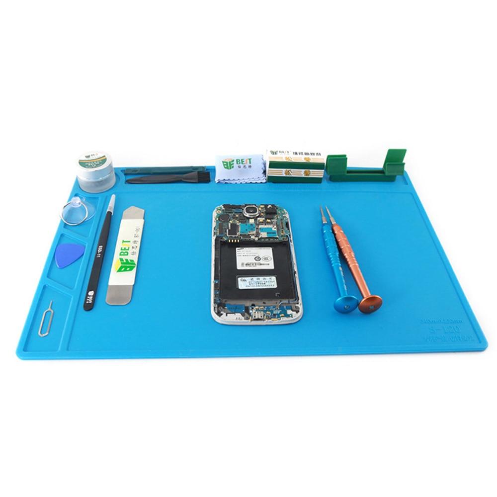 All Kinds Size Heat Insulation Working Mat Heat-Resistant Silica Gel Pad BGA Soldering Station Repair Insulation Pad Platform