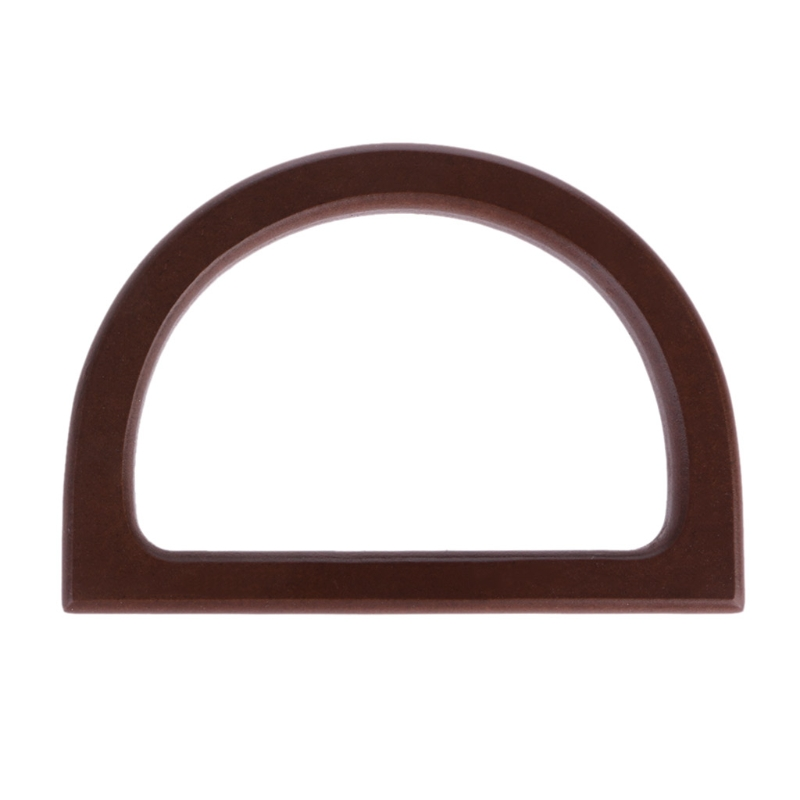 12X8.5cm Brown Wooden Dee Top Handles For Sewing Bag, Handle Handle Bag Handles Wood Handicraft Material Free Shipping