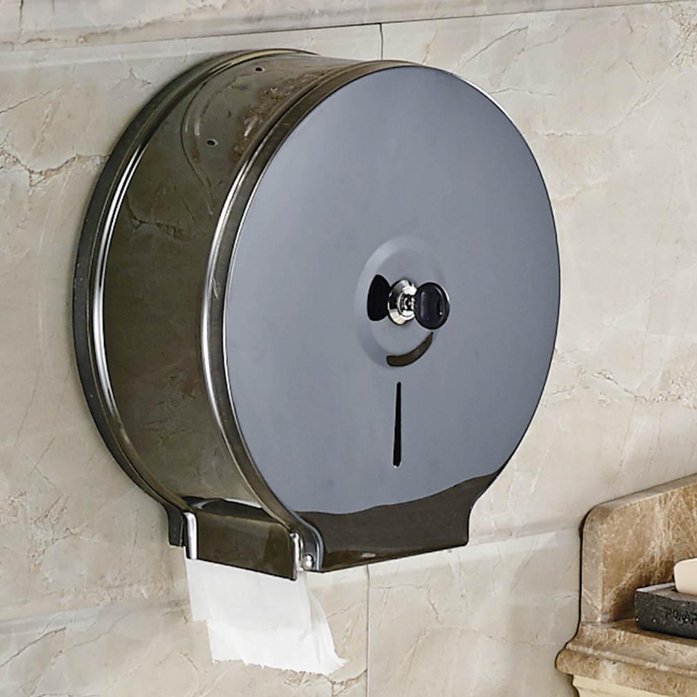 On BIG sales Wall Mount Jumbo Roll Toilet Tissue Paper Dispenser Commercial Stainless Steel Toilet Paper Dispenser цена