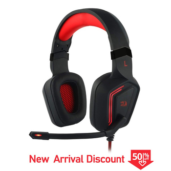 Redragon H310 MUSES Wired Gaming Headset 7.1 Surround-Sound Pro-Gamer Headphone with Microphone For PC,PS43,Switch