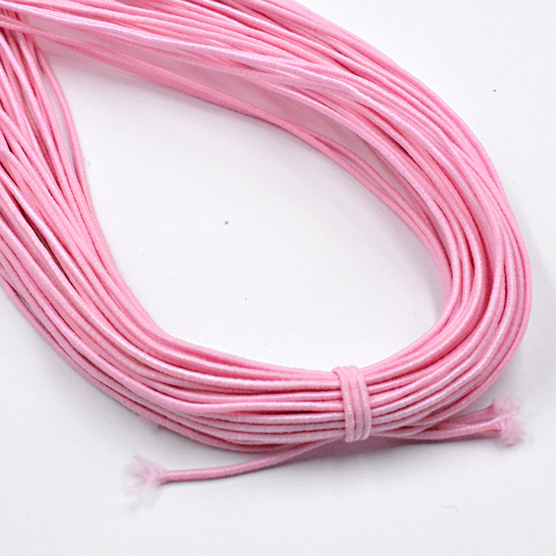 Новинка 0,8 мм на выбор, 12 цветов, эластичная веревка, шнур, бисер, сделай сам, для изготовления ювелирных изделий, браслет и ожерелье - Цвет: Розовый