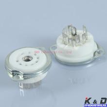 10 шт. керамические 9pin шасси вакуумная трубка гнезда для 12AX7 / 12AT7 / 12AU7(China (Mainland))